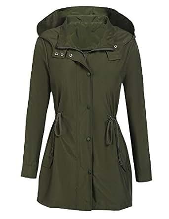 Amazon.com: DonKap Womens Lightweight Rain Jacket Hoodie