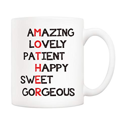 5Aup Christmas Gifts Definition Mother Funny Coffee Mug for Mom, Best Mothers Day Gifts from Daughter Son, Unique Birthday Gift for Mother Women Her Novelty Ceramic Cups 11Oz
