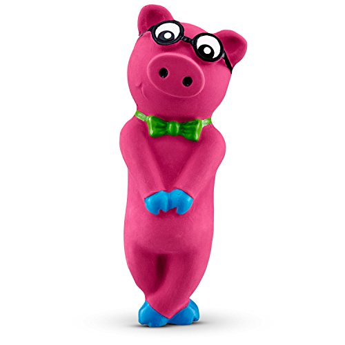 Leaps & Bounds Bashful Nerdy Pig Latex Dog Toy, Small Review