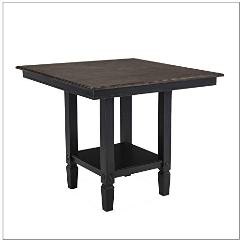 Intercon GW-TA-4242G-RBC-C Glenwood Gathering Height Table, Rubbed Black Charcoal
