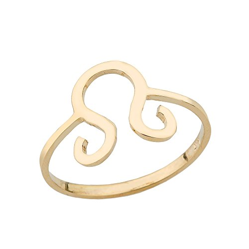 Yellow Gold 14k Leo Horoscope Zodiac Ring (Size 7) 14k Yellow Gold Zodiac Sign