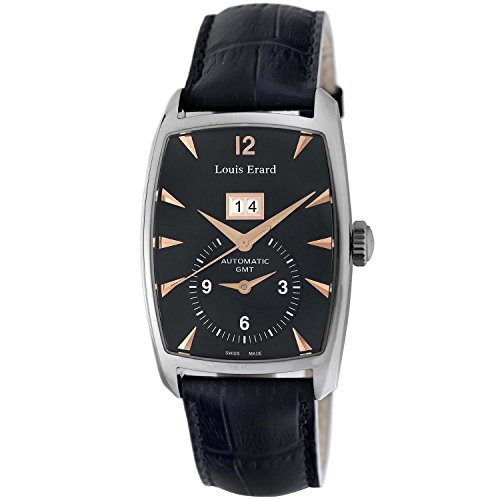 Louis Erard 1931 82210AA02.BDC51 34mm Automatic Stainless Steel Case Black Calfskin Anti-Reflective Sapphire Men's Watch