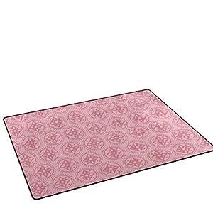 savsa rosa flores Doormats alfombrillas antideslizante para sala de estar entrada forma interior exterior 31x 20en y 60x 39en