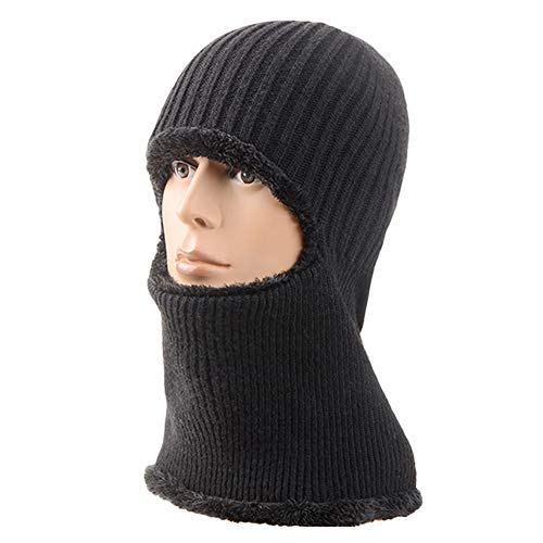Price comparison product image DKPO Balaclava Beanie, Warm Knitted Balaclava Mask, Windproof Ski Face Mask, Wool Snow Hats, Riding Hat for Outdoor Sports Cycling Motorcycle Bike, Winter Hats, Unisex Fleece Cap (15.7H 7.9W inh)