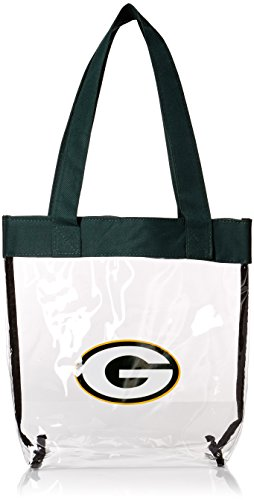 Forever Collectibles 2013 NFL Football Clear See Thru Tote Bag, Green Bay Packers