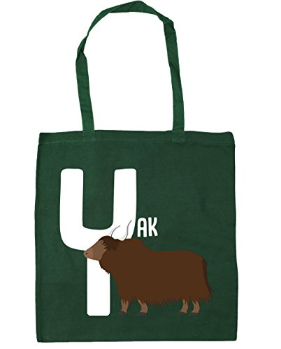 42cm alphabet HippoWarehouse x38cm litres Shopping Y yak for Green Gym is Tote 10 Bag Bottle Beach animal qBqpF