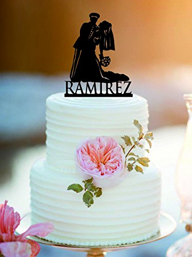 Customized Military Wedding Cake Topper /Army Wedding Cake Topper (Wedding Cake Army)