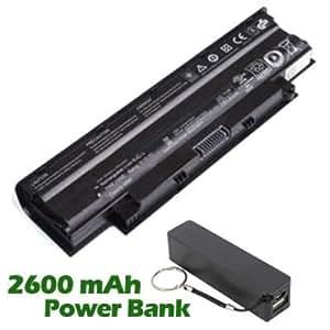 Battpit Bateria de repuesto para portátiles Dell 9JR2H (4400mah / 48wh) con 2600mAh Banco de energía / batería externa (negro) para Smartphone