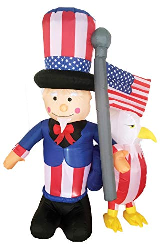 (Morris Inflatable Uncle Sam with)