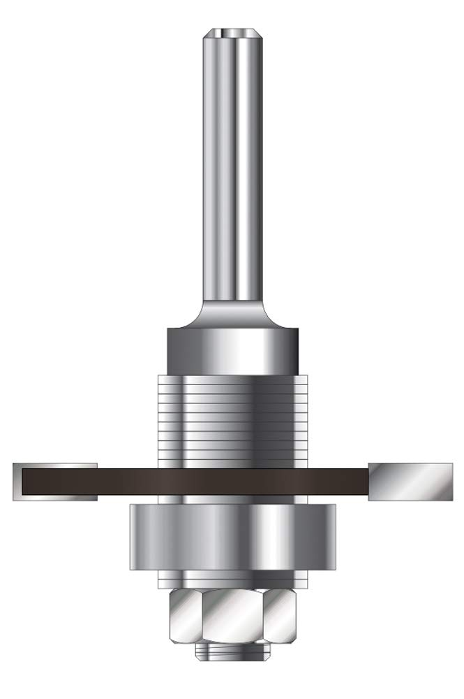 ENT 16460 Flachdü belfrä ser HW (HM), Schaft (C) 8 mm, Durchmesser (A) 47 mm, B 3,97 mm, D 32 mm, mit 3 Kugellager ENT European Norm Tools