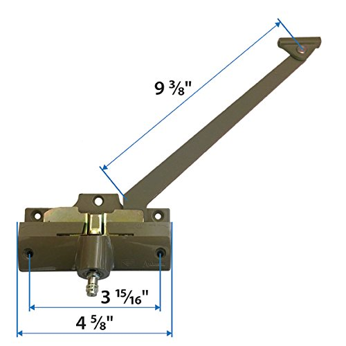 Andersen® Straight Arm Operator (Right Hand) with 9-3/8 Inch Arm Length in Stone Color (1974-1995) (Andersen Windows)