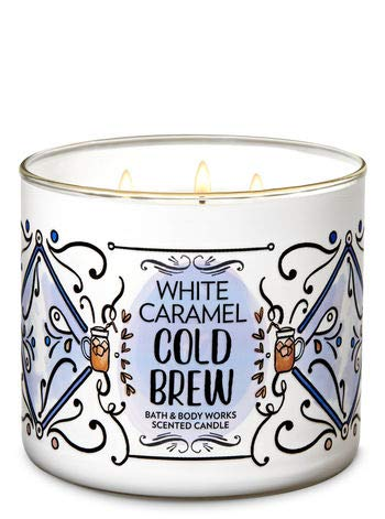 Bath & Body Works White Caramel Cold Brew 3-Wick Candle