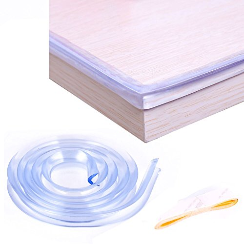 3.28 ft Soft Transparent Edge & Corner Protection Strip,clear edge baby proof, Healthy,Nontoxic , Environmental,Corner and Edge Guards - Edge Protection