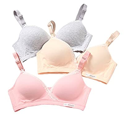 Women's Nursing Bra Lace Edge Cotton Seamless Maternal Postpartum No Rims 2 Breastfeeding Systems Bras