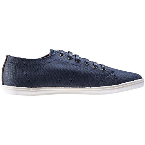 Fred Perry Kingston Coated Canvas Carbon Blue B1130266, Turnschuhe