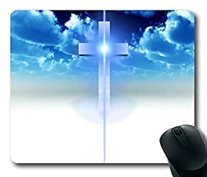 Blue Sky Cross Rectangle mouse pad by Custom Service Your Best Choice