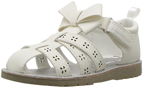 Carter's Dannah Girl's Fisherman Sandal, White, 9 M US Toddler ()