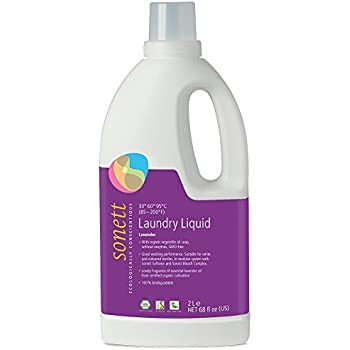 Sonett Organic Laundry Liquid Detergents, Mint & Lemon, Lavender and Sensitive. (Lavender, 1 Count)