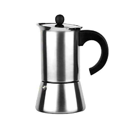 Ibili Indubasic Espressokocher aus rostfreiem Stahl für 12 Tassen, auch für Induktion geeignet 611312