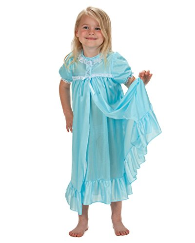 Laura Dare Big Girls Frozen Ice Blue Short Sleeve Traditional Peignoir Set, 8