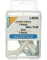 Mintra L Hook Wall Plug 6x36 mm, 4 Pieces