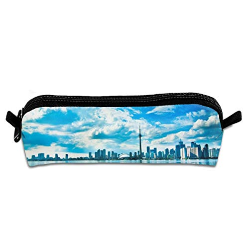 Kui Ju Pencil Bag Pen Case Toronto Scenery Cosmetic Pouch Students Stationery Bag Zipper Organizer ()