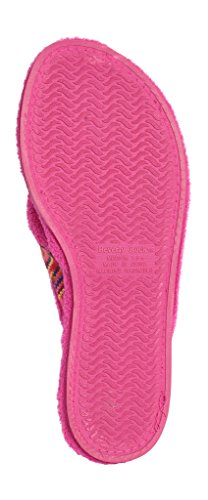 Gift Flipflop Plus Pink USA Brand Embroidered Fun Free Thong Chic BEVERLY Red Woman's Colors in Terry A ROCK SHOP Spa Slippers qwvU7HXv