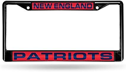 Rico Industries NFL Unisex-Adult NFL Laser Cut Inlaid Standard Chrome License Plate Frame