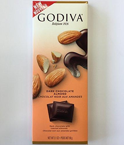 Godiva Dark Chocolate Bar with Almonds 3.1oz (Pack of 5)