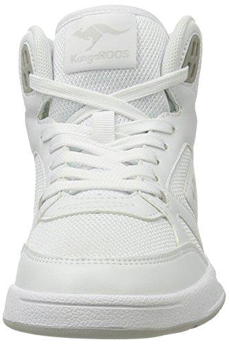 KangaROOS Advantage Hi, Zapatillas Altas Unisex Adulto Weiß (White/Lt Grey)