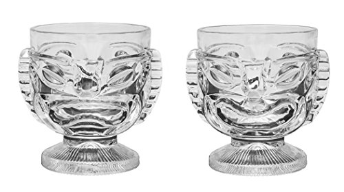 Tiki Glass - 15 oz. Cocktail Mug for Mai Tai, Punch, Pina Colada, and tropical drinks. Island-themed party home barware glasses, (2) Tiki Punch