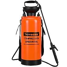 VIVOSUN 2 Gallon Lawn and Garden Pump Pressure Sprayer with Pressure Relief Valve, Adjustable Shoulder Strap