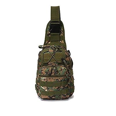 Shanzwh extérieur en nylon Camping Randonnée Sac à dos seule épaule Sac à dos (Camouflage)