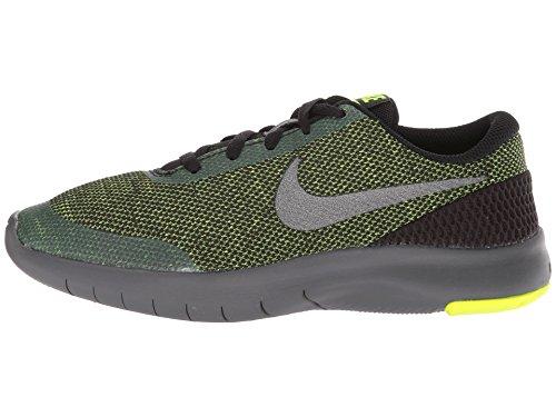 Nike Kids Flex Experience RN 7 (GS) Running Shoes (4 Big Kid M, Black/Metallic Dark Grey/Volt/Dark Grey) by Nike (Image #5)