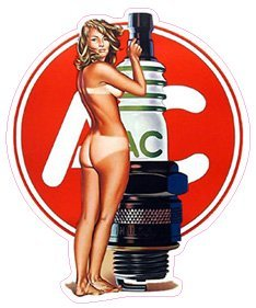 AC Delco Spark Plug Pin Up Girl Decal 5