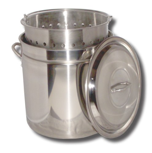 King Kooker Pot - King Kooker KK36SR Ridged Stainless Steel Pot, 36-Quart