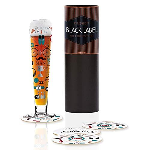 Ritzenhoff Black Label Beer Glass Design by Kathrin Stockebrand, Transparent, 8 x 8 x 27 cm
