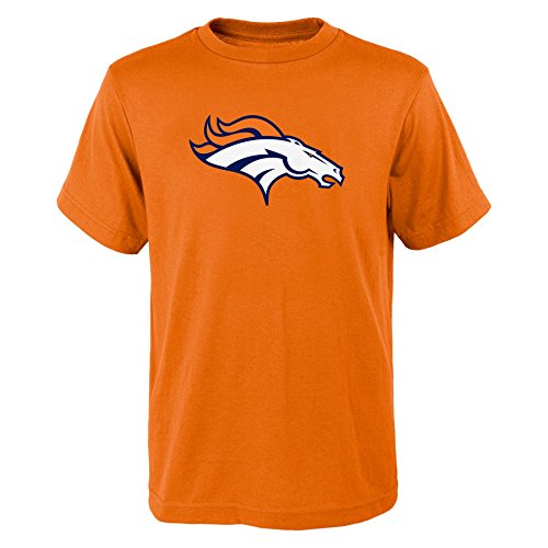 Outerstuff NFL Boy's Kids & Youth Primary Logo Short Sleeve Tee, Orange, Youth X-Large(18)