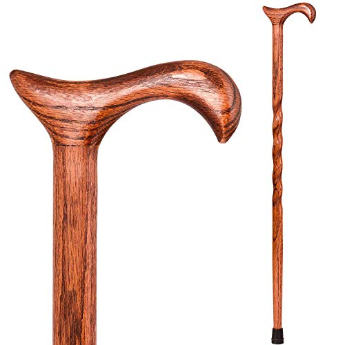 Brazos Walking Cane for Men and Women Handcrafted of Lightweight Wood and made in the USA,  Red Oak, 34 Inches (Starting A Home Health Care Business In Texas)