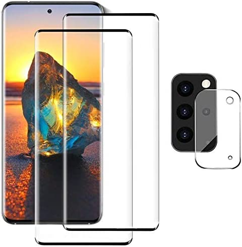 Galaxy S20 Plus Screen Protector and Camera Protector, [2 Screen Protectors + 1 Camera Protector][Support Fingerprint] Tempered Glass Screen Protector for Samsung Galaxy S20 Plus 4G/5G