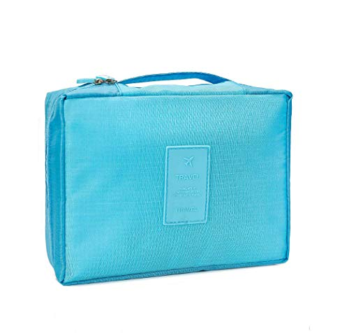 REHTRAD Portable Travel Organizer Storage Cosmetic Makeup Pouch  Blue