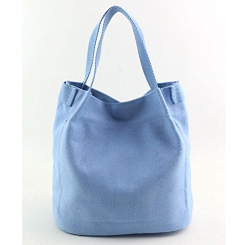 Bag Shoulder Purse Ladies Blue Large TM Tote Fashion Sky Women Travel DEESEE Canvas CxXYW1RqwU