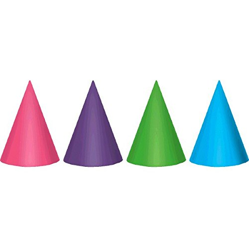 pink birthday cone hats - 5
