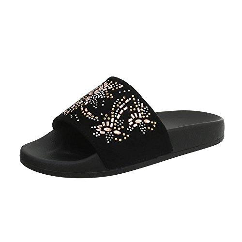 Plat Ital Sandales Noir 883 1 Femme Mules Chaussures Design wvraqv1I
