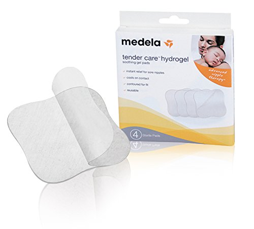 Medela  Soothing Gel Pads for Breastfeeding, 4 count, Tender Care Hydrogel Pads, Advanced Nipple Therapy, Instant Cooling Relief for Tender Nipples, Reusable