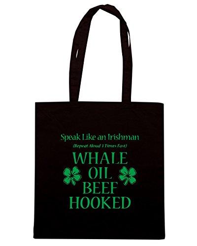 T-Shirtshock - Bolsa para la compra TIR0198 speak like an irishman tshirt Negro