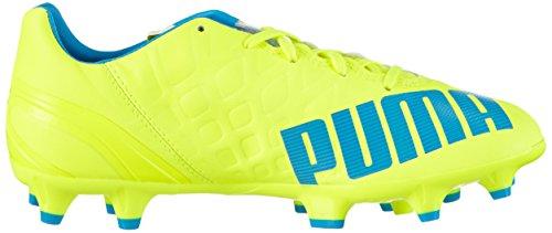 Puma Evospeed 4.4 Fg Jr - Botas de fútbol Unisex niños Amarillo - Gelb (safety yellow-atomic blue-white 04)