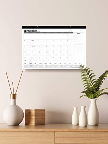 Desk Calendar 2018-2019 (Use Monthly from September 2018 to December 2019) - Large Desk Pad or Wall Calendar - Big Monthly Pages 17'' x 11'' - by Royal Mountain Print Co. by Royal Mountain Print Co. (Image #1)