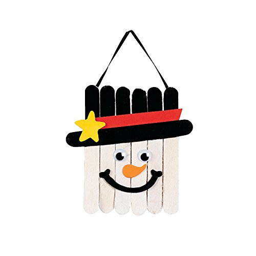 Craft Stick Snowman Banner Craft Kit-makes 12