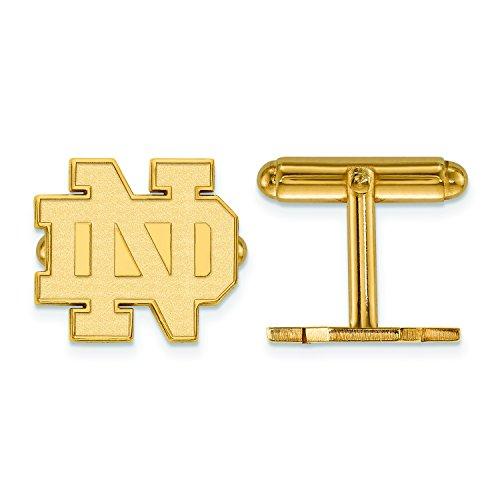 Logoart Sterling Silver Gp University Of Notre Dame Cuff Link from LogoArt
